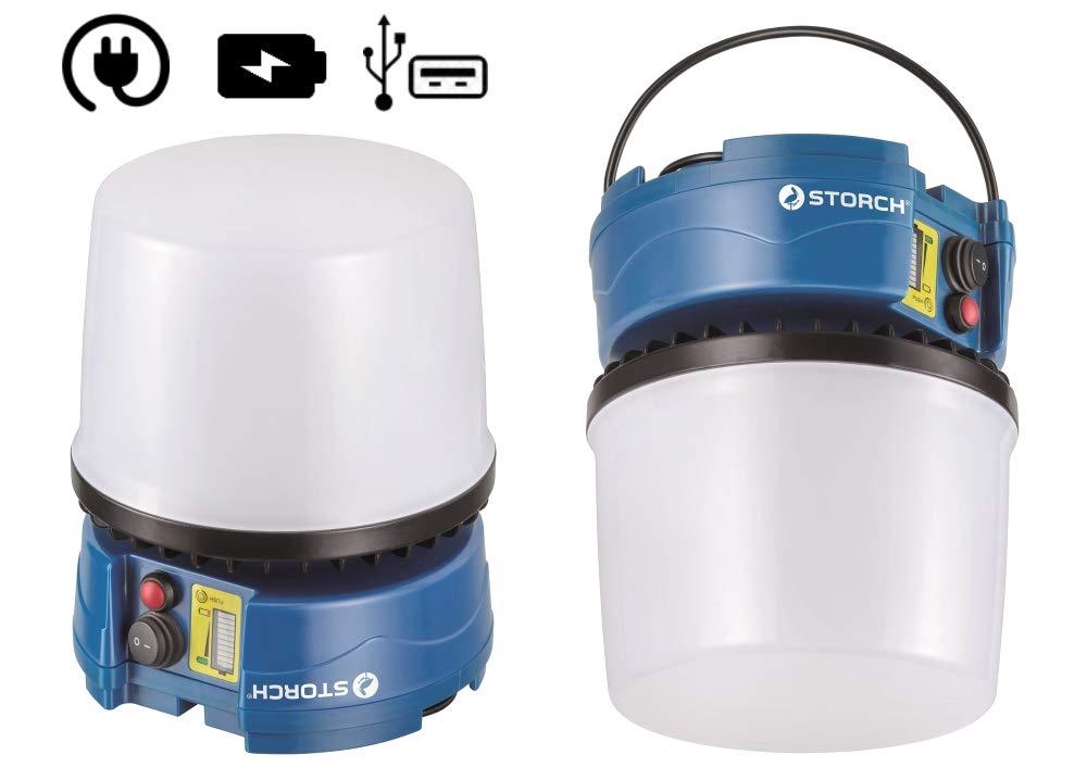 Storch 601140 LED Bell Akku 30W 360° Raumausleuchtung (Akku- und Kabelbetrieb)