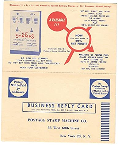 Fold Out AD Postcard US Postage Stamp Machine Company In New York City104903