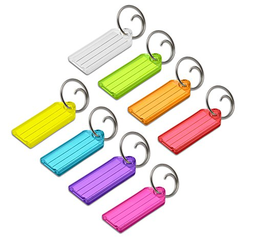 Lucky Line Key Tag with Tang Ring; Assorted Colors; 100 Per Box - Line Lucky Key Tags