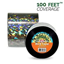 *KEEP THE BIRDS AWAY* Holographic Bird Scare & Repellent Ribbon, Bird Tape 100 Feet X 2 Inches by Aspectek