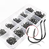 Goture Small Size Black Carbon Steel Fishing Hooks Have Different Size Set Fishing