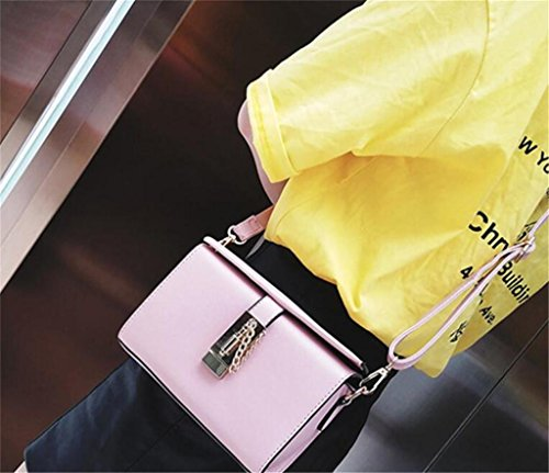 Bao Señora Pequeño Caja Hombro Solo Cuadrado Mensajero De Mano Clásica Bolsa Pink Bolso qAfwFqdnr