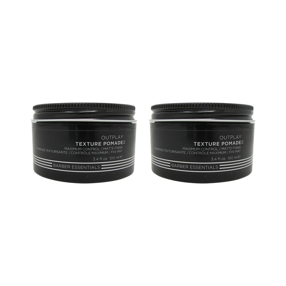 Redken Brews Outplay Maximum Control Texture Pomade 3.4 oz. Pack of 2 by REDKEN