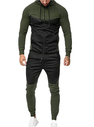 dahuo - Chándal para Hombre con Capucha Verde Verde S: Amazon.es ...