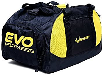 5bddfb1b5167 EVO GYM Sports kit bag backpack Duffle football Fitness Training MMA Boxing  Bags (Yellow)