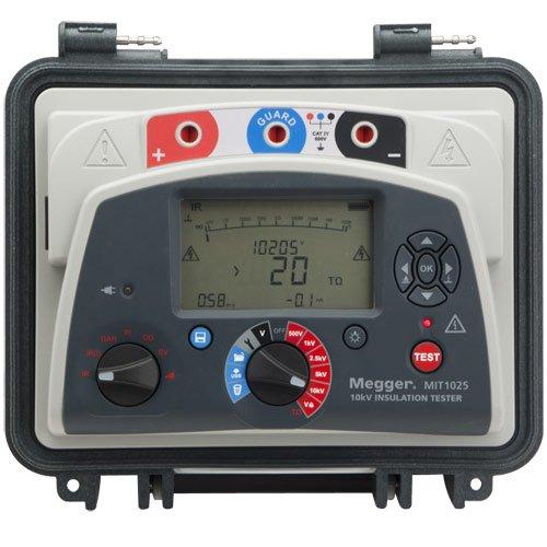 Megger MIT1025-US Insulation Tester with Output, 20 Teraohms Resistance, 10kV Multi-Range Test Voltage