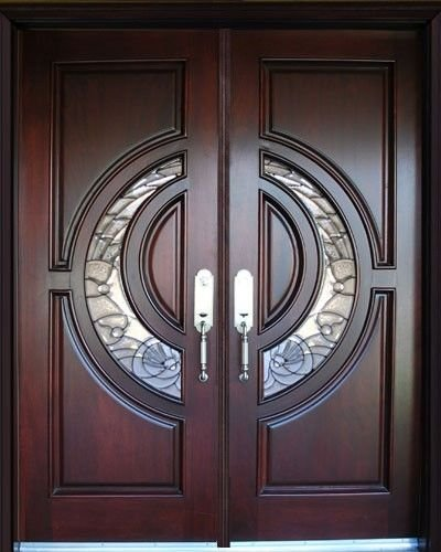 Exterior Front Entry Double Wood Door M580E 36x80x2 Left Hand Swing In