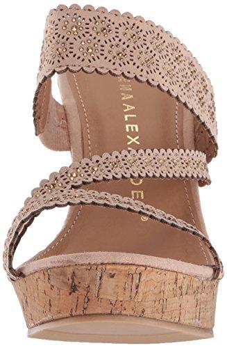 Athena Blush Sandal Wedge Women's Alexander Aerin 0zCZq4Sxw