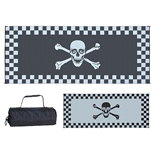 Reversible Patio Mat Racing - Stylish Camping RF-8202 8-Feet x 20-Feet Racing Pirate Mat