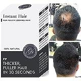 WOW ERGEBNISSE! Sofort-Haarausfall-Behandlung für Männer und Frauen | 100% Keratin-Fasern | Bedeckt Dünne und Kahle Stellen | Haarverdichtung | 5 Wochen Vorrat | Mittelbraun