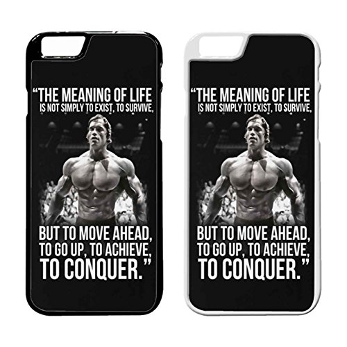 Arnold Schwarzenegger Arnie Conquer Quote IPhone Case Iphone 7 Plus Case Black Rubber - International Usps Shipping Quote