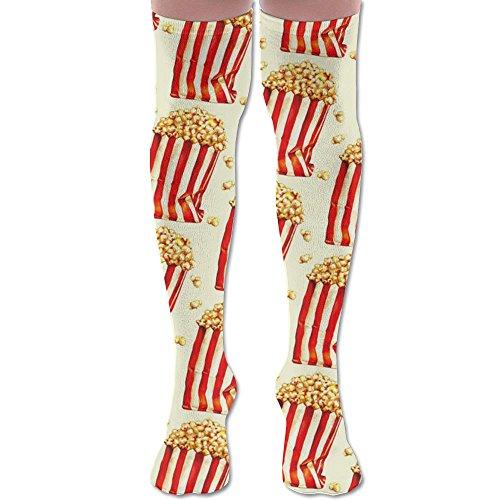 MYKUA Over Knee High Socks Popcorn Extra Long Athletic Sport Tube Stockings For Man ()