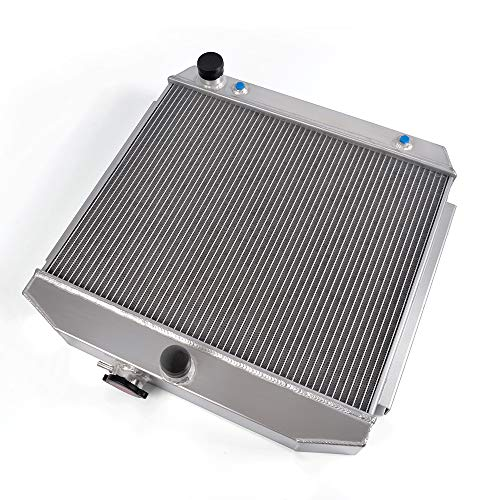 Full Aluminum Cooling Racing Radiator 2 Core Fits For 55-57 Chevy Bel Air/Nomad/One Fifty Series/Two Ten Series/Del Ray V8 MT