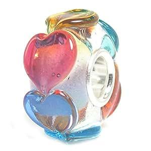 Amazon Com Queenberry Infinity Love Goes Round Rainbow