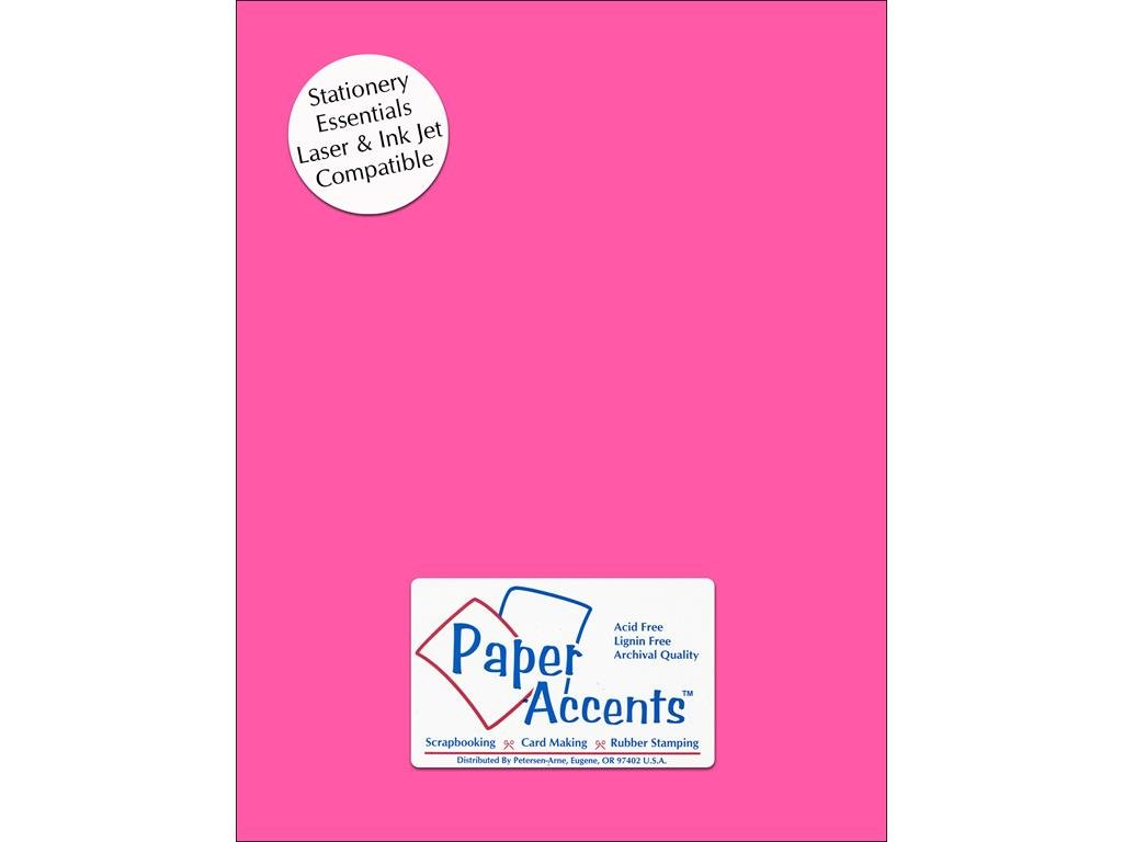 Accent Design Paper Accents ADPTX8511-25.106 Lite Stock 8.5x11 Bright Pink Cardstock
