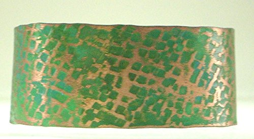 Copper Cuff Hand Forged Green Patina (Patina Hand Forged)