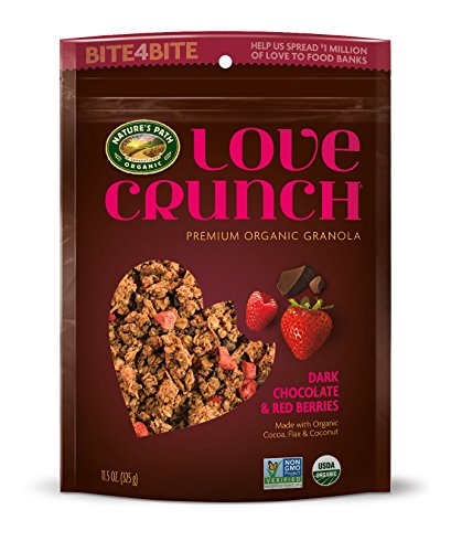 Nature's Path Organic Love Crunch Premium Granola, Dark Chocolate & Red Berries, 11.5 Ounce (Pack of 6)
