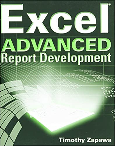 Book Excel ADVANCED: Report Development