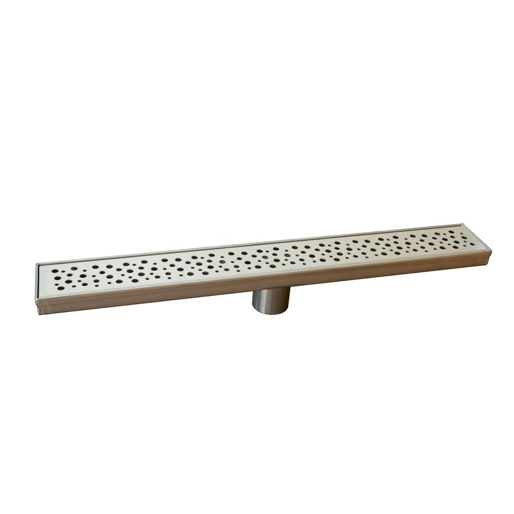 Naiture Brushed Stainless Steel 18'' Rosa Linear Shower Drain by Naiture.com Live in Nature
