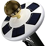 """Deluxe Solar Flag Pole Light, Flag Light, LED Downlight for Most 15 to 25 Ft In-Ground Flag Poles, Fits 0.5"""" Wide Flag Orname"""