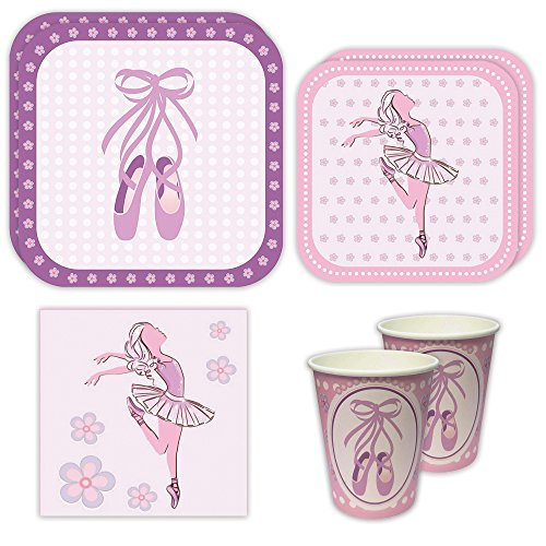 Ballet Standard Party Packs (65+ Pieces for 16 Guests!), Dance Party Supplies, Ballet Birthday, Ballerina Decorations, Tableware
