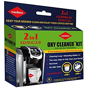 Descaling Kit, Descaler for Keurig 2.0, For All K-Cup Keurig Brewers, Biodegradable, Non Toxic, No After Taste