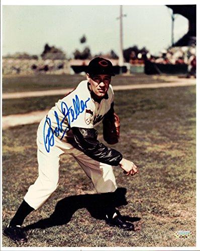 Bob Feller Autographed 8x10 Photo Cleveland Indians MCS Holo #23404