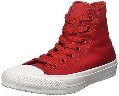 Converse Unisex Chuck Taylor All Star II Hi Salsa Red/White/Navy Sneaker