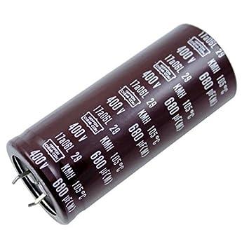 2x Electrolitico Condensador 680µF 400V 105°C ; KMH400VN681M35X80T2 ; 680uF: Amazon.es: Electrónica