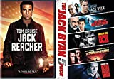 Jack Reacher DVD + Jack Ryan Collection Pack Movie Action Patriot Games / Hunt Red October / Shadow Recruit / Sum of All Fears