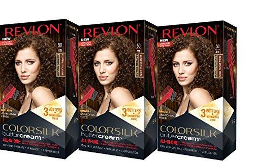 Revlon Colorsilk Buttercream Hair Dye, Medium Natural Brown, 3 - Rich Natural