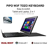 PIPO W3F TOZO Keyboard Case Ultrabook Tablet PC Dual Boot Windows 8.1 Android 4.4 10.1 inch IPS 1920x1200 Quad Core Max 2.4GHz 2GB RAM 32GB ROM Dual Camera