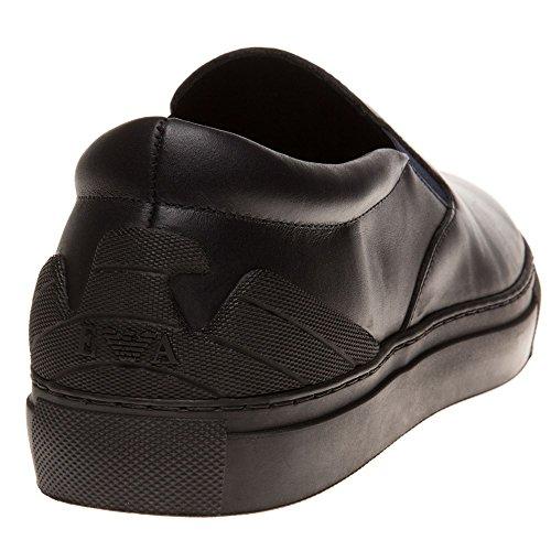 Emporio Armani Heel Logo Cup Sole Slip On Hombre Zapatillas Negro