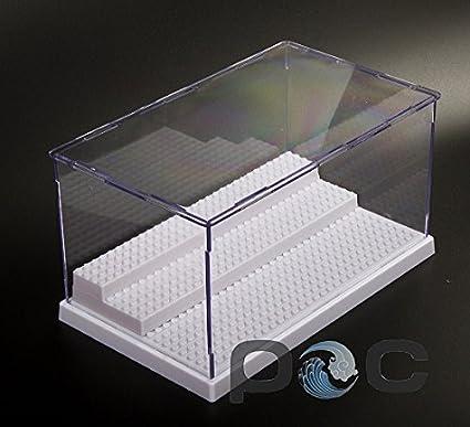 fairbridge Acrylic Display Case/Box 3 Step Perspex Dust Proof Show Toy Figures and Vinylmation (Black) testv200