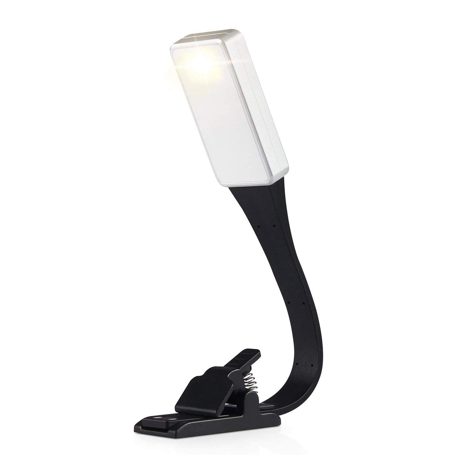 Book Light, MAIAGO LED Reading Lights, 3-Level Brightness (Cool and Warm) Adjustable Color Temperature, USB Rechargeable, Eye Protection Brightness, Easy Clip on Kindle, iPad & Book & More