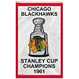 Rico Chicago Blackhawks 1961 Stanley Cup Champions 3' x 5' Vertical Banner Flag