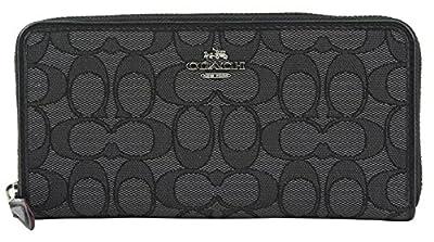 Coach Women's Signature PVC Zip Around Wallet, Style F54630