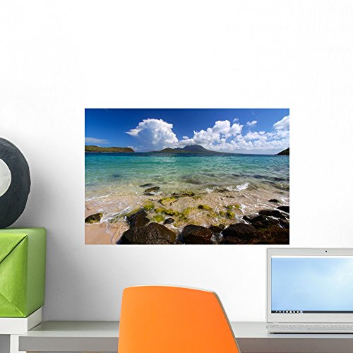 Bay Mural - Wallmonkeys Beach Major's Bay Caribbean Wall Mural Peel and Stick Graphic (18 in W x 12 in H) WM184767