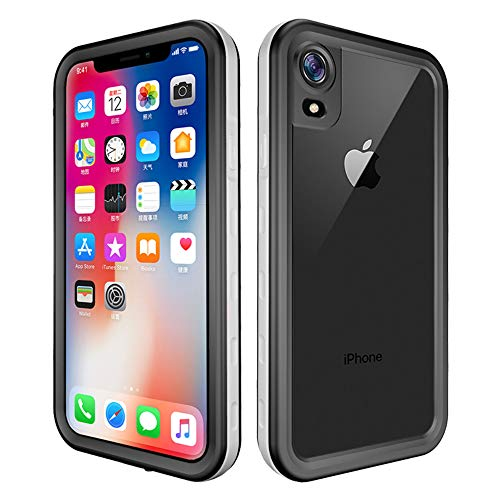 Alsoar Compatible with iPhone XR Waterproof Case,Built-in Screen Protector Shockproof Snowproof Dirtproof Full Body Protective Cover [Support Wireless Charging] - White (Iphone 5s App Store Search Not Working)