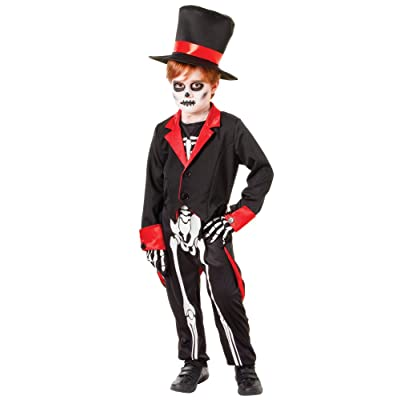 Bristol Novelty CC942 Mr. Bone Jangles Costume, White, Medium, 122 - 134 cm, Approx Age 5 - 7 Years, Mr Bone Jangles (M): Toys & Games