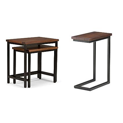 promo code 68d53 e7ebf Amazon.com: Simpli Home Skyler 2 Piece Nesting Side Table ...