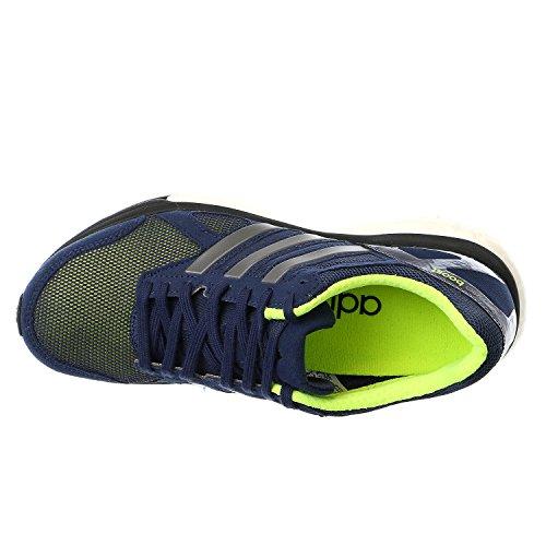 Adidas Adizero Tempo 7 W Negro / púrpura / melocotón zapato corriente 6 con nosotros Midnight Indigo/Solar Yellow