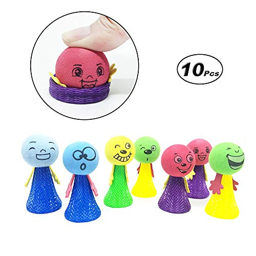 X Hot Popcorn 10 Pcs Jumping Emoji Popper Spring Launchers Bouncy Toy for Party Favors