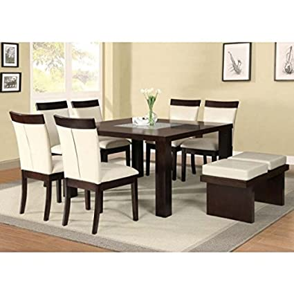 Amazon.com - ACME Keelin Casual Dining Room Set with Dining ...