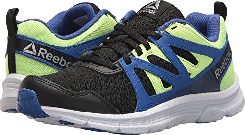 Reebok Baby Run Supreme 2.0 Sneaker, Black/Acid Blue/Electric Flash, 11 M US Toddler