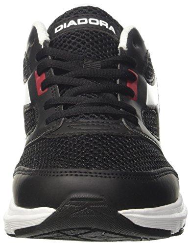 Diadora Shape 7, Zapatos para Correr Unisex Adulto Negro (Nr/rosso Peperoncino/bianco)