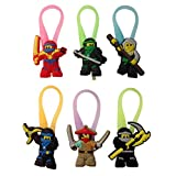 Lego Movie Luminescent Colorful Silicone Snap Lock Zipper Pulls 6 Pcs Set #8