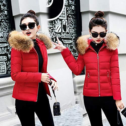 Rojo Pluma Invierno Abajo Otoño Con Capucha Larga Chaqueta Moda Luckycat De Chaquetas Calentar Mujer Ligero q6nWAZUc