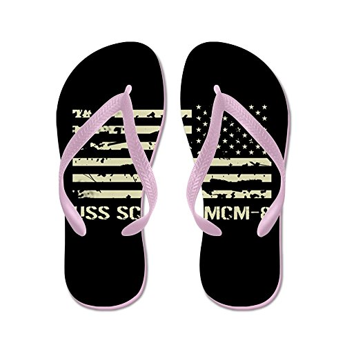 CafePress USS Scout - Flip Flops, Funny Thong Sandals, Beach Sandals Pink