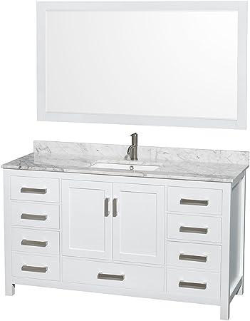 Wyndham Collection Sheffield 60 Inch Single Bathroom Vanity In